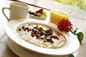 Breakfast Series - Oatmeal with raisins